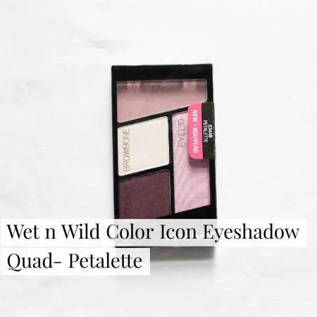 Wet n Wild Color Icon Eyeshadow Quad- Petalette