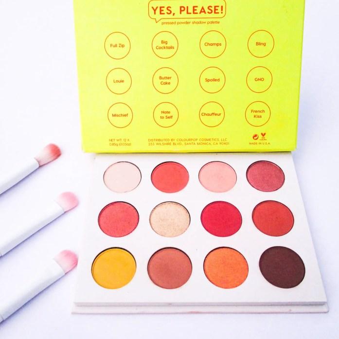 Colourpop Yes Please Palette Review