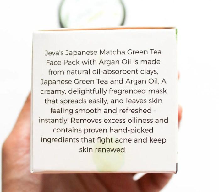 Jeva Green Tea Face Pack Description