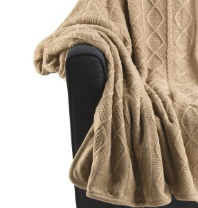 brown knit throw