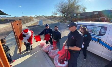 Santa brings a jolly lesson to local students