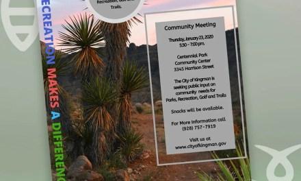 City of Kingman Parks, Aquatics, Recreation & Golf to Hold  Master Plan Community Input Meeting