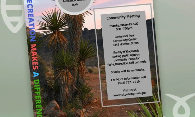 City of Kingman Parks, Aquatics, Recreation & Golf to Hold  Master Plan Community Input Meeting