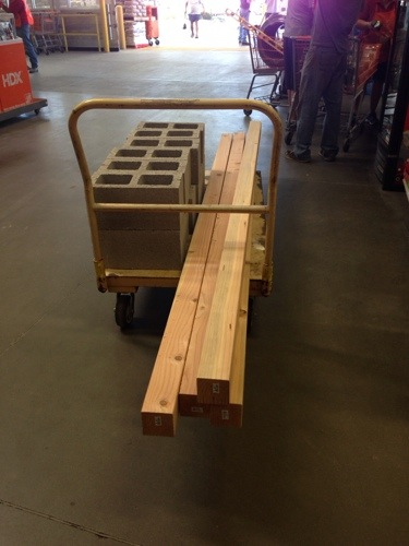 If you are really nice to the Home Depot workers they will load all this stuff on your cart and in your truck!