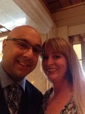 Folks, my felfie with Ali Velshi, the crowing glory of my felfie collection. I was a tad star struck.