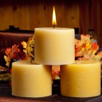 Round Candle - 3x4 inches