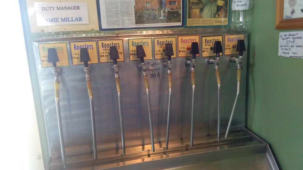 Taps for self filling flagons of beer