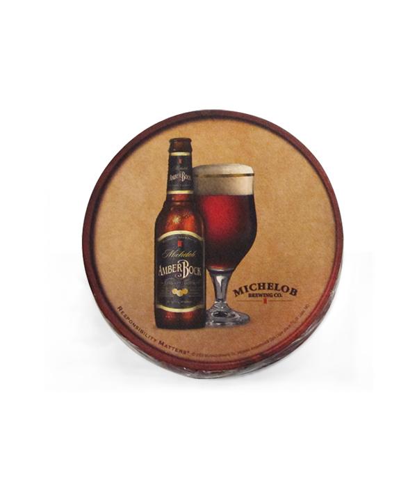 New Old Stock Michelob Amber Bock Beer Bottle Opener Keychain Holder Black Gold