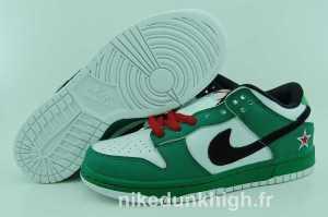 nike dunk Heineken chaussures vert blanc (1)