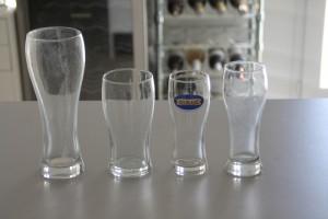Différents formats de ce type de verre. En général on les assimile pour les format de 25cl à des demi pintes.