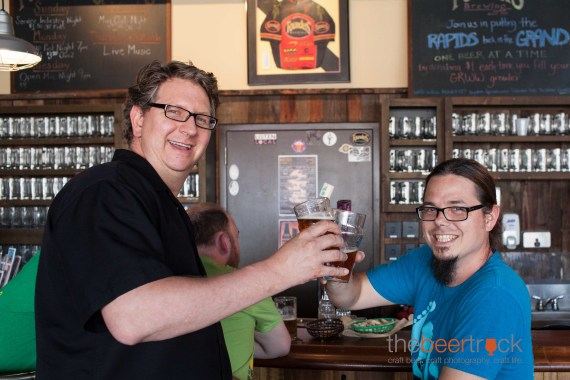 Dave Engbers and Jeremy Kosmicki – proud owner and head brewer.