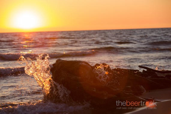 Lake Michigan sunset in Grand Haven, MI