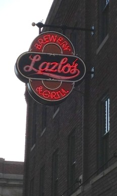 Lazlo's Brewery& Grill, in the Haymarket District, Downtown Lincoln. The Haymarket was hoppin' on a Thursday night, and the students weren't even in town!