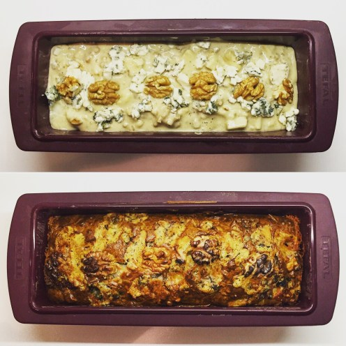 Pear, Roquefort & Walnut Savoury Cake - The Beginner's Cookbook Recipe