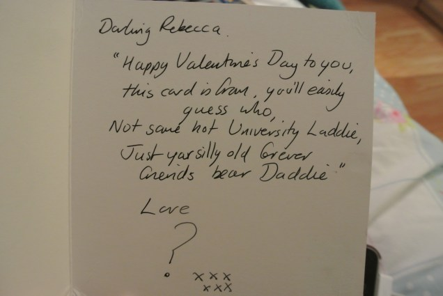 One of Dad's hilarious Valentines rhymes!