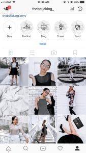 Picture of Instagram theme of Bella King