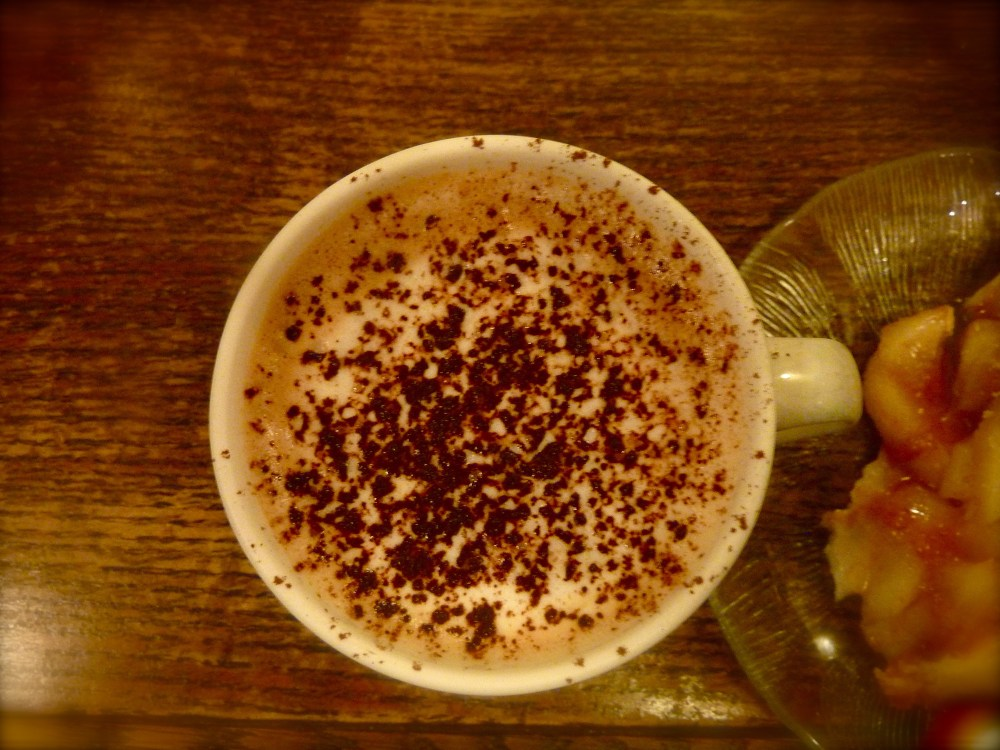 hot Mocha after window shopping on Granville