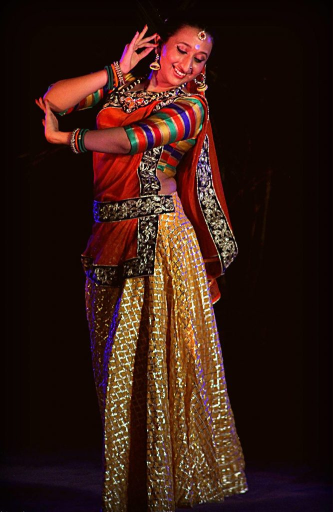 Ashwini Kaikini performs at a Nrityanidhi show