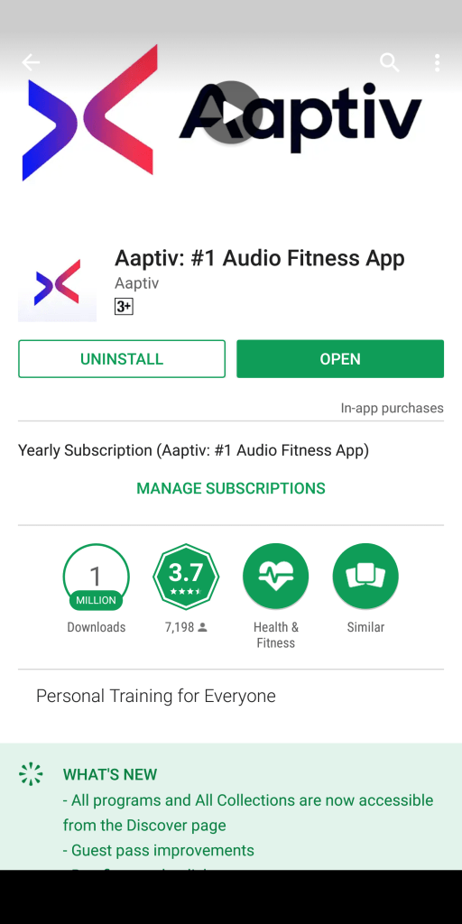Aaptiv Fitness App | Workout App Review | Indian Fitness Blog