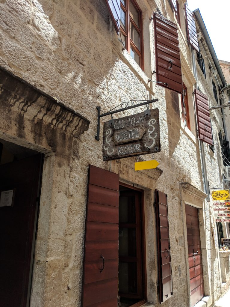 Entrance to Old Town Hostel Kotor | Travel in Montenegro | Bombay Bellyrina