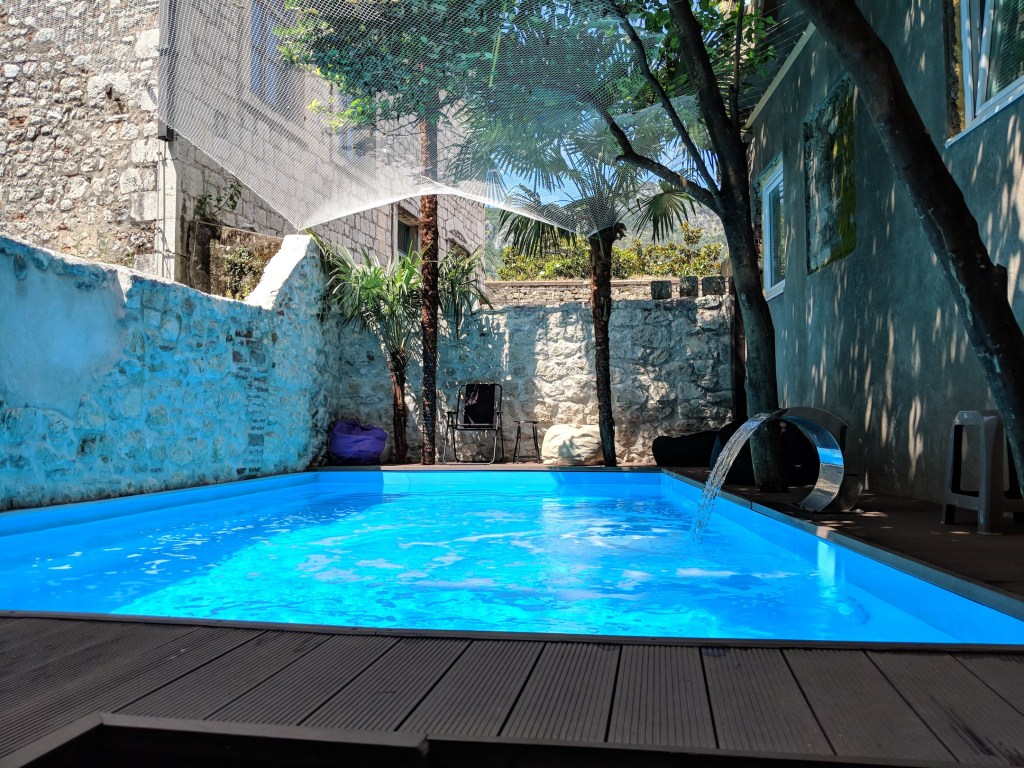 Swimming Pool at Old Town Hostel Kotor | Travel in Montenegro | Bombay Bellyrina