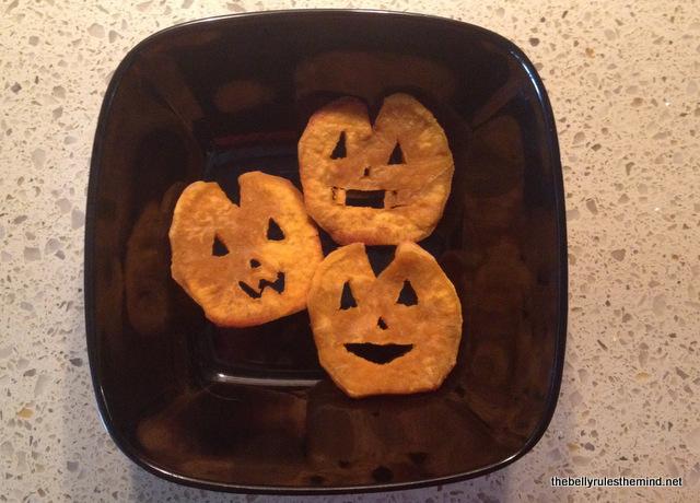 Sweet Potato Jack-O-Lantern fries