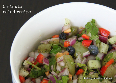 5 Minute Salad Recipe
