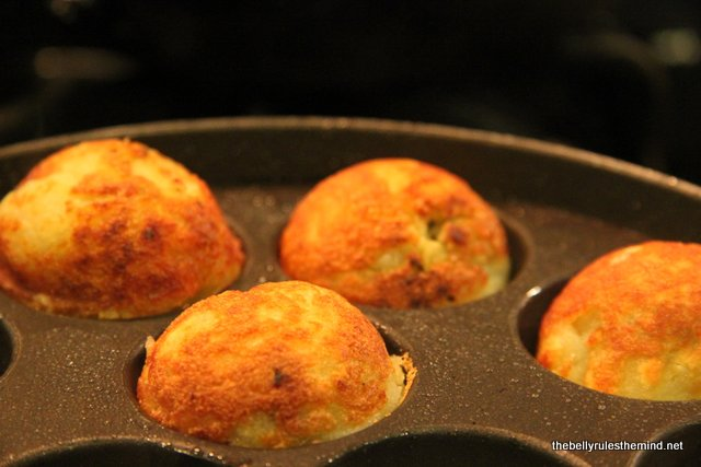 Farali Patties being cooked on other side