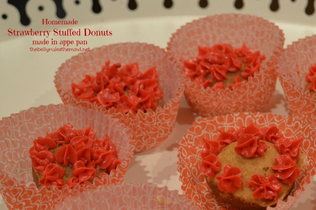 Homemade donuts made in appe pan