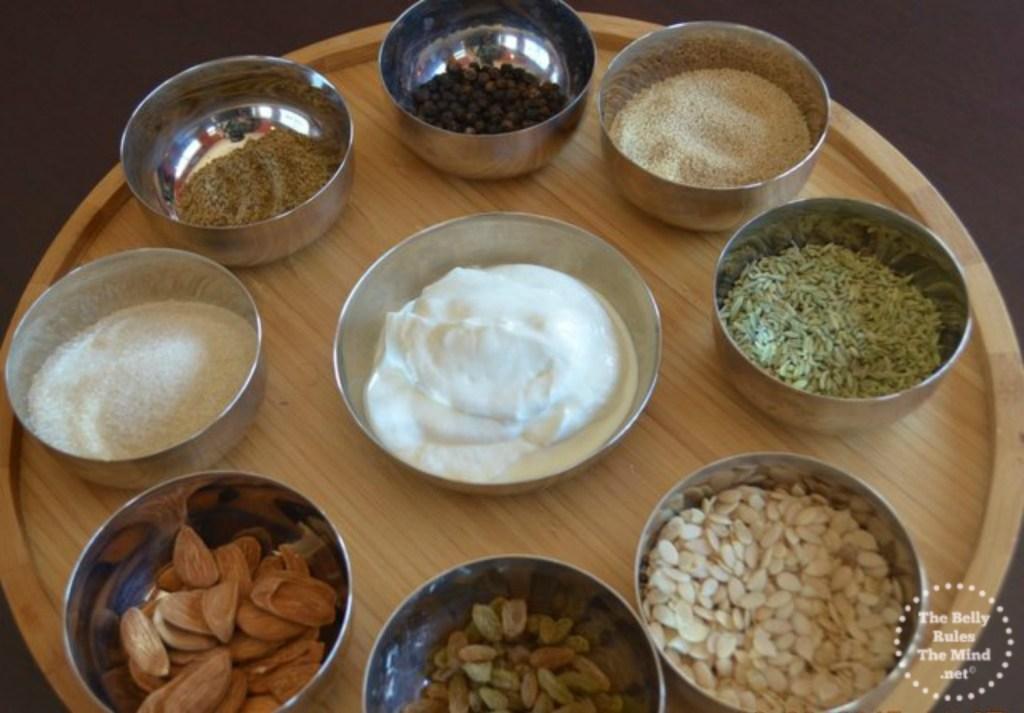 Ingredients for Thandai paste