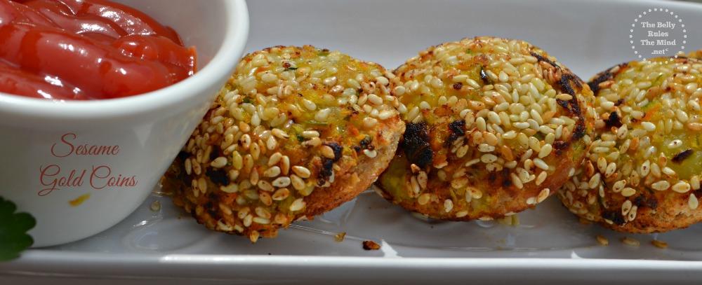 Sesame veg gold coins