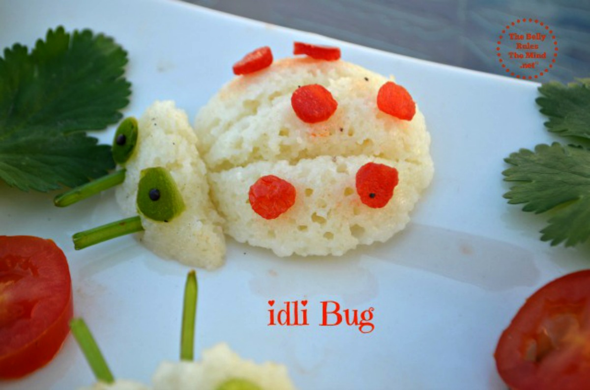 idli bug food art