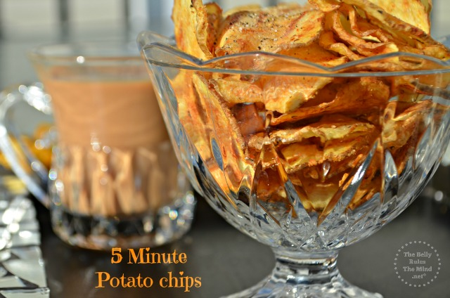 5 minute potato chips