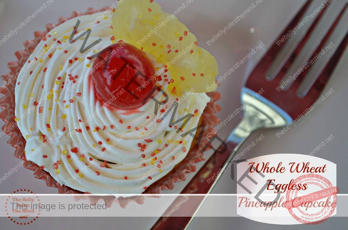 whole wheat pineapple cupcake