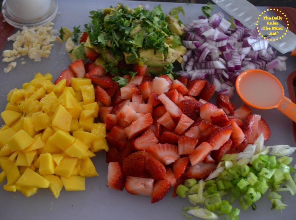 Tropical fruit salsa