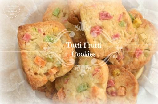 Eggless tutti frutti cookies