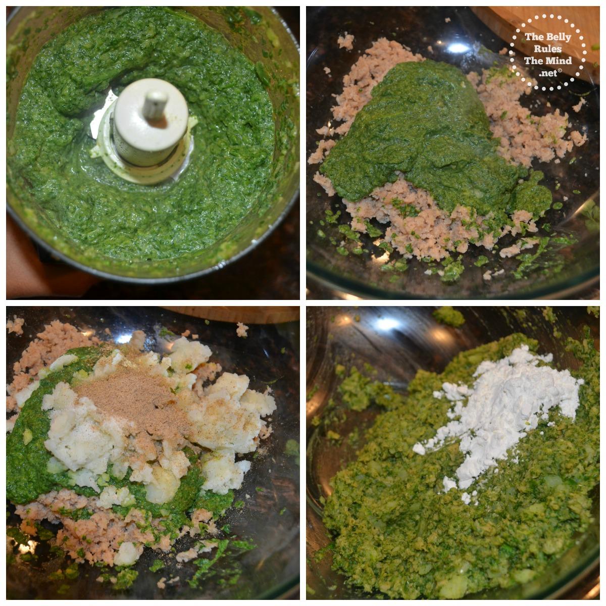garlicky spinach soya patties