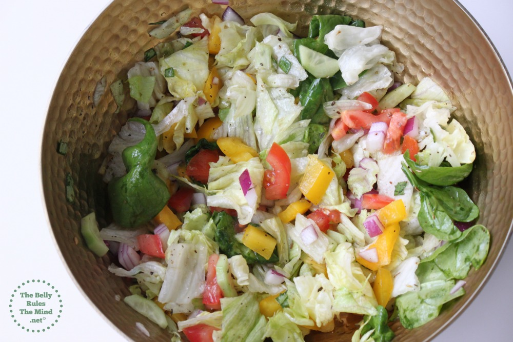 Summer Salad with dressing