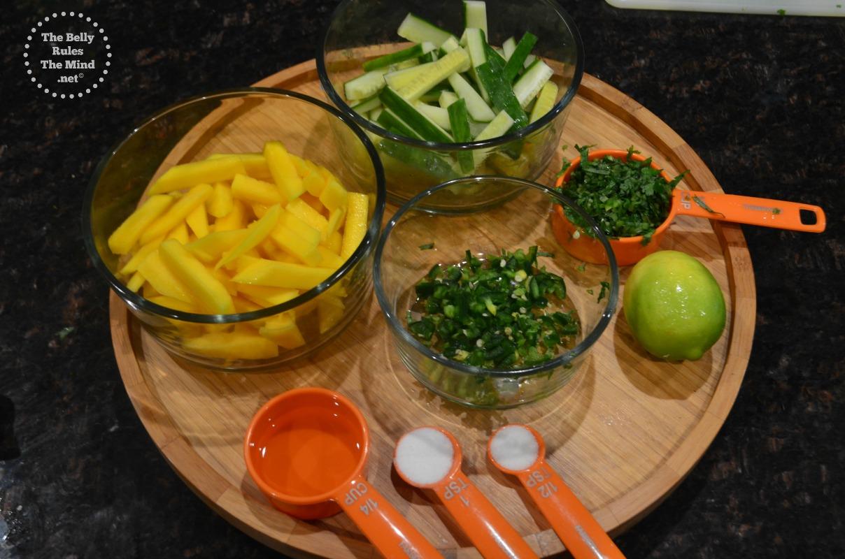 cucumber & mango salad