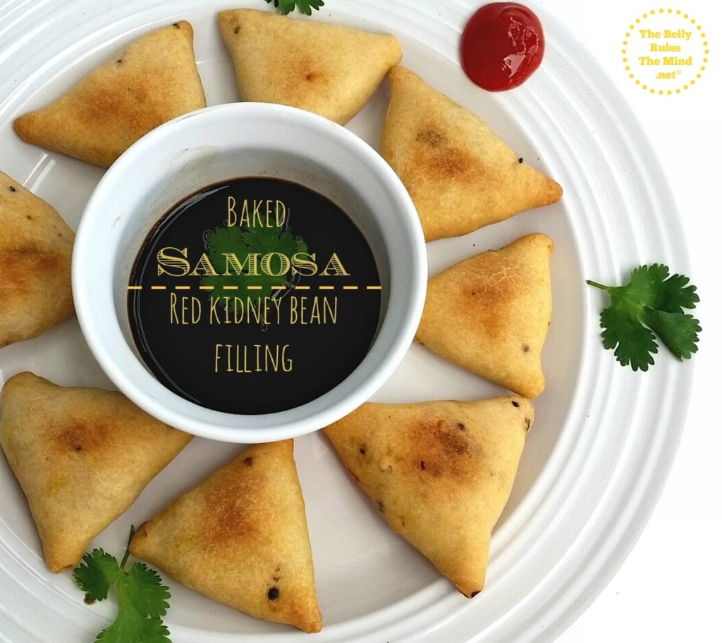 Baked Samosa with Red kidney bean filling