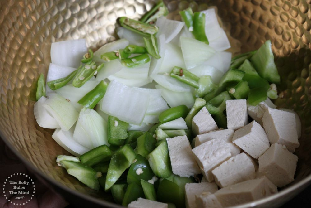 Ingredients for Stir fry Tofy