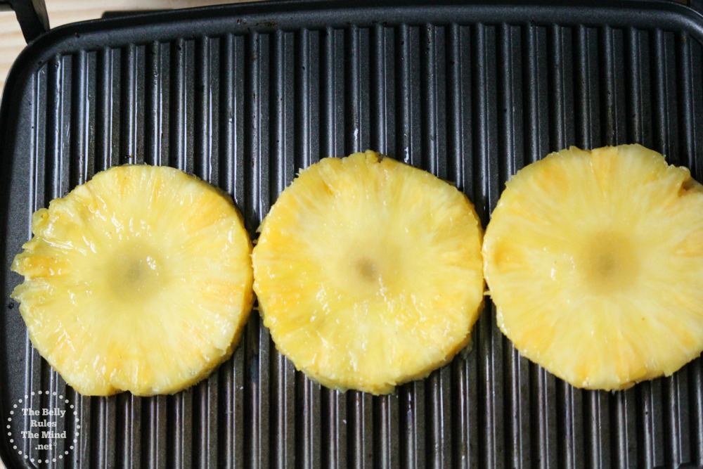 grilling pineapples