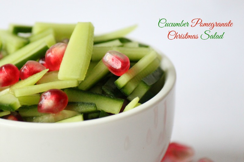 Cucumber Pomegranate Christmas Salad