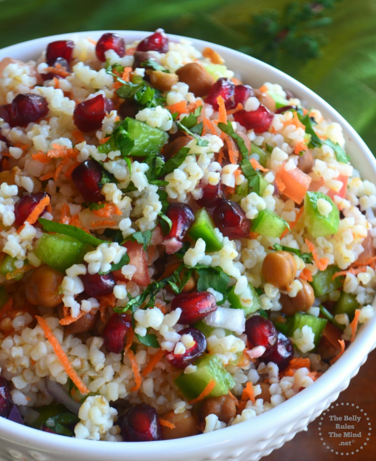 Bulgar wheat salad (Daliya salad)