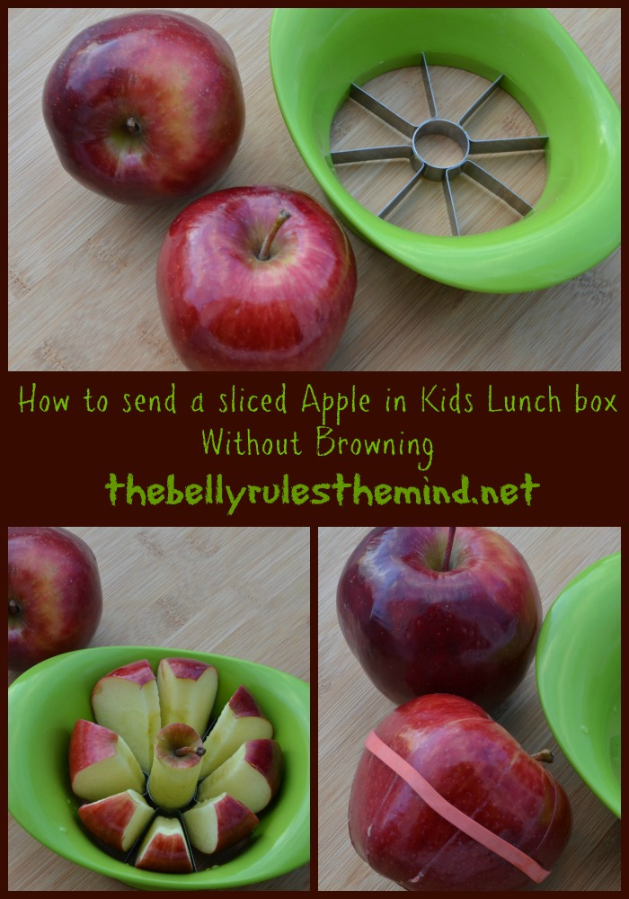 How to pack sliced apple in your kids lunch box without browning