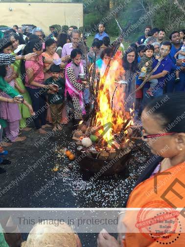 Holika at the HSNC Temple 2016