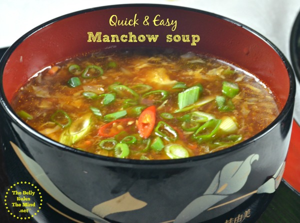 Quick & Easy Manchow soup
