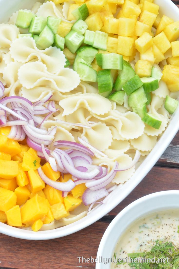 Tropical Salad with creamy vegan mayo