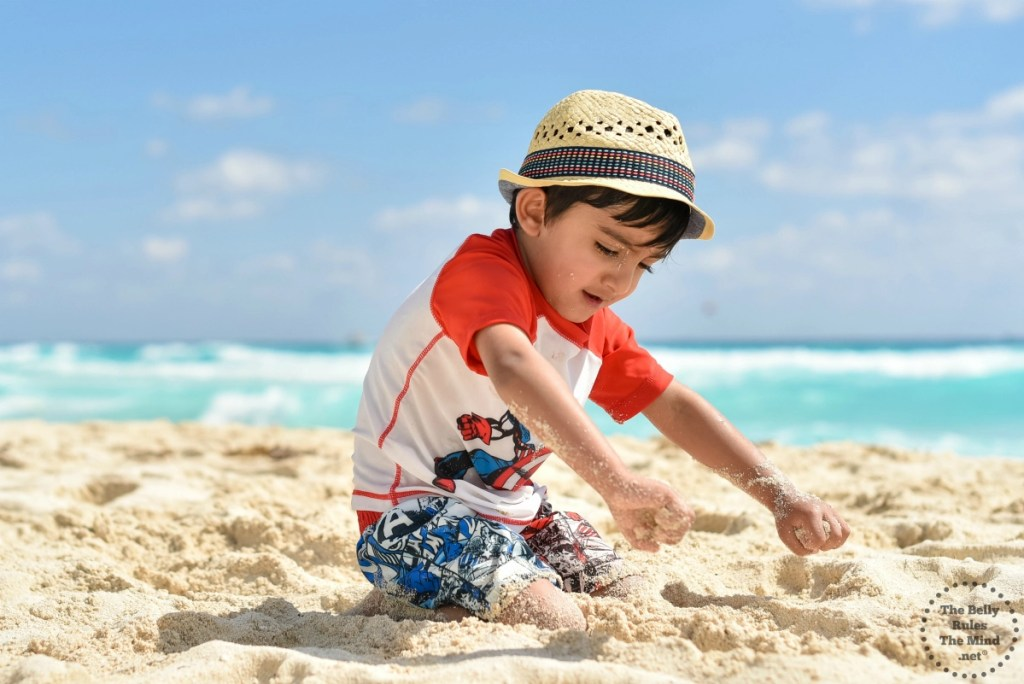 Little A playing in the sand