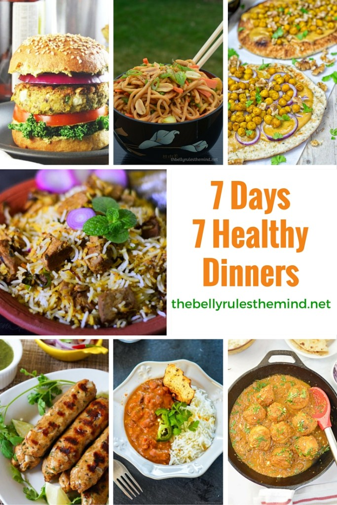 7 DAYS 7 HEALTHY DINNERS PIN